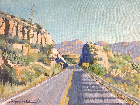 Going Home, a painting of a road