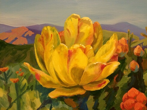 Yellow Flower, a painting of a flower