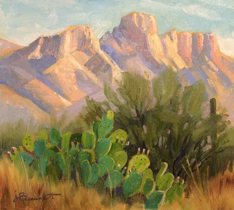 Afternoon at Catalina State Park, an oil painting of the desert