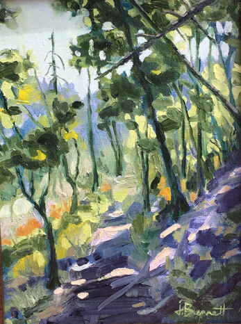 Morning on Mt. Lemmon, an oil painting of a landscape