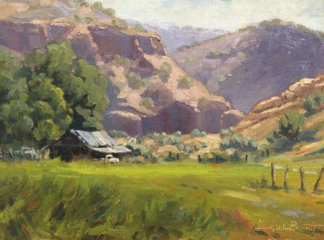 The Grass is Greener, an oil painting of a landscape